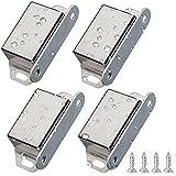 4 magneti magnetici per ante di armadio, in acciaio inossidabile, con chiusura magnetica p...