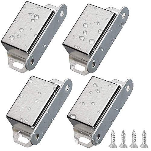 Magnetschnäpper 4-teilig für Schranktür, Edelstahl, Magnetverschluss, Tür für Schubladen, Duschtür, Schrank, Kabinett, Möbel