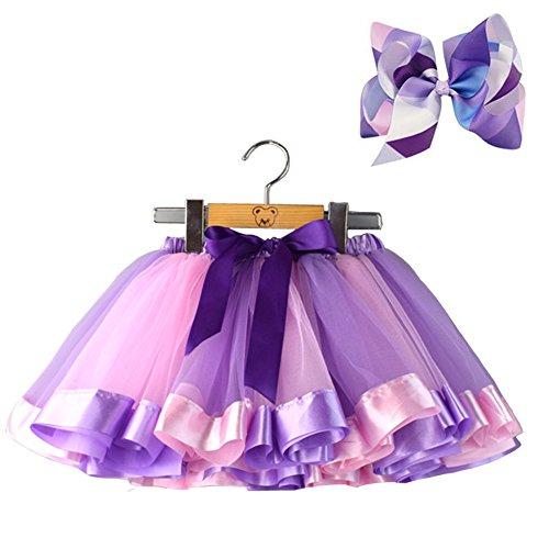 "Tanzmuster Enfants Ballet tuturock /""Pia/"" Violet Tutu Jupe ballettrock Patinage"