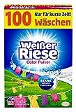 Weißer Riese Color Pulver, Colorwaschmittel, 100 Waschladungen, extra stark gegen Flecken