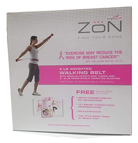 ZON WallEc(TM) Weighted Walking Belt with Tubes (Pink/Grey) 063481
