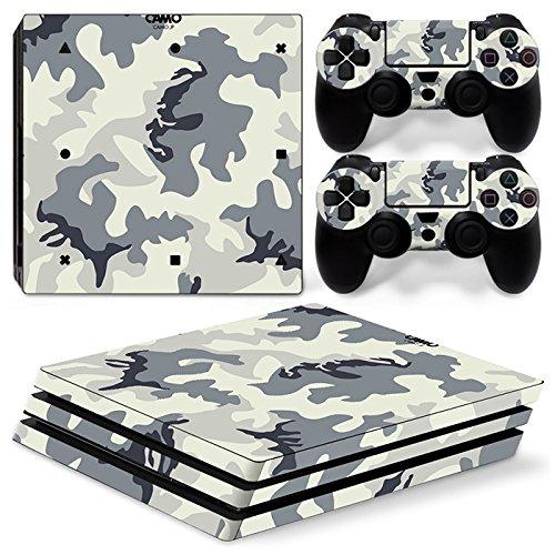 Sony PS4 Playstation 4 Pro Skin Design Foils Aufkleber Schutzfolie Set - Camouflage 2 Motiv