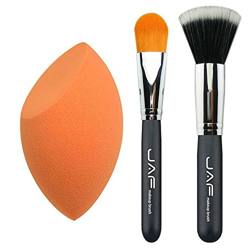 Family Needs 3 stuks Kit van make-up Foundation Brush Set Meandersteken Brush Alkali Make Up Blender Spons Classical Foundation Brush PF04SET