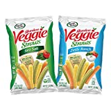 Sensible Portions Garden Veggie Straws Snack Size Variety Pack Sea Salt and Zesty Ranch, Salted, 24 Ounce
