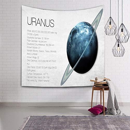 QAZX Planet Tapisserie Universum Wandbehang Wandkunst Home Letter Erde Saturn Mars Dekoration Decke Neptun Polyester groß handgemacht 200x150cm