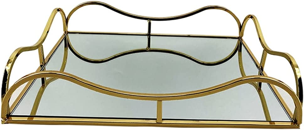 Long-awaited yotijar Mirrored Popular products Tray Decorative Mirror Perfume Jewelr Organizer