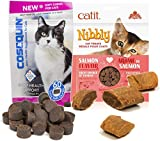 Cosequin for Cats Treat Pack - Joint Health Soft Chews with Glucosamine, Chondroitin & Omega-3 (60 Chews) and Catit Baked Nibbly Salmon Flavored Treat (3.2oz) - Favorite Treat Combination Cats Love