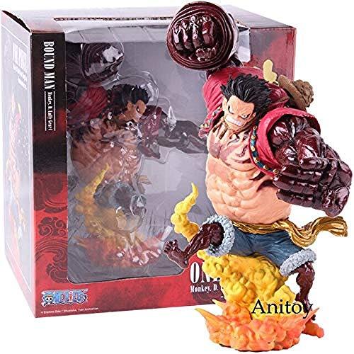 Anime One Piece Luffy Bound Man Jumpsuit D Luffy Gear 4 Kong Grimson C