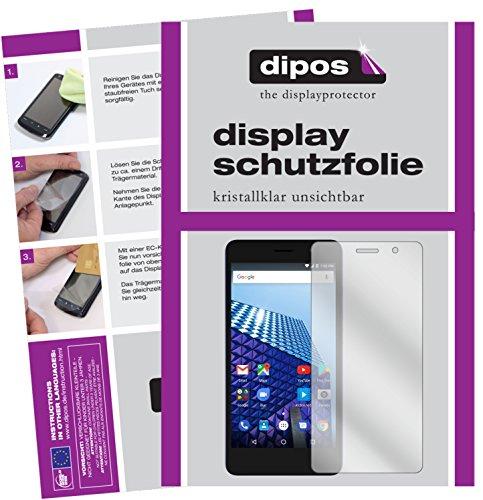dipos I 2X Schutzfolie klar kompatibel mit Archos Access 50 Color Folie Bildschirmschutzfolie