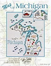 Michigan Map Cross Stitch Chart and Free Embellishment