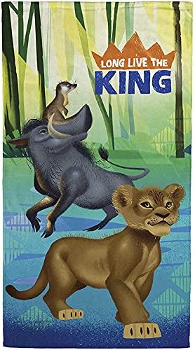 AQEWXBB Toalla de playa The Lion King Simba Zazu para niños, absorbente, ideal para playa y piscina (Simba 1,100 cm x 200 cm)
