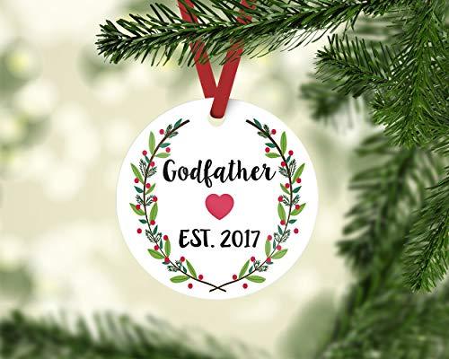 cwb2jcwb2jcwb2j godfather gift Christmas ornament godfather godfather ornament godmother godmother gift ornament godparents baptism gift 3-inch(8 cm)