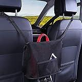 Car Net Pocket Handbag Holder Seat Back Organizer Mesh Large Capacity Bag for Purse Storage Phone Documents Pocket,Barrier of Backseat Pet Kids-YANDING (Black, Advanced)