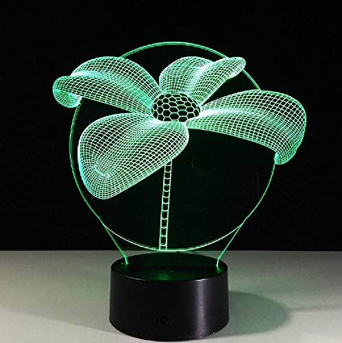 Lotus Flower 3D Night Light Touch Table Desk Lamps 7 Color Changing Lights with Acrylic Flat for Home Decor Gift for Friends Kid