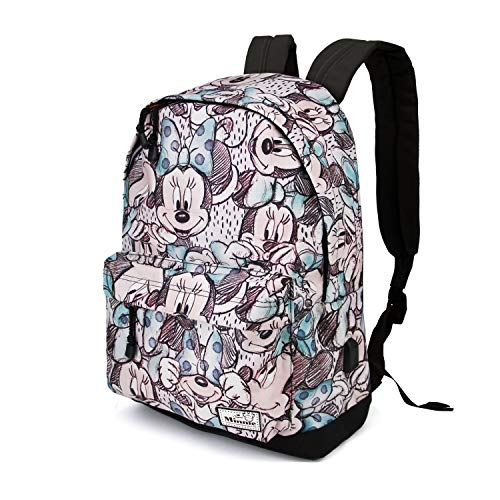 KARACTERMANIA Disney Classic Minnie Drawing-HS Backpack Rucksack, 44 cm, 23 liters, Grau (Grey)