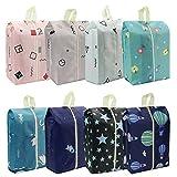 Bolsas para zapatos, impermeables, resistentes al polvo, para viajes o almacenamiento en casa, con cordón para hombres y mujeres, 8pcs pattern2, large,