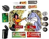 Kit para fumar - Bandeja de Liar - Grinder para especias - Cenicero de Playa -...
