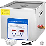 Mophorn 10L Professional Ultrasonic Cleaner 304&316 Stainless Steel Digital Lab Ultrasonic Cleaner with Heater Timer for Jewelry Watch Glasses Circuit Board Dentures Small Parts
