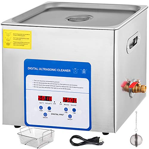 Mophorn 10L Professional Ultrasonic Cleaner 490W 304 and 316 Stainless Steel Digital Lab Ultrasonic Cleaner with Heater Timer for Jewelry Watch Glasses Circuit Board Dentures Small Parts