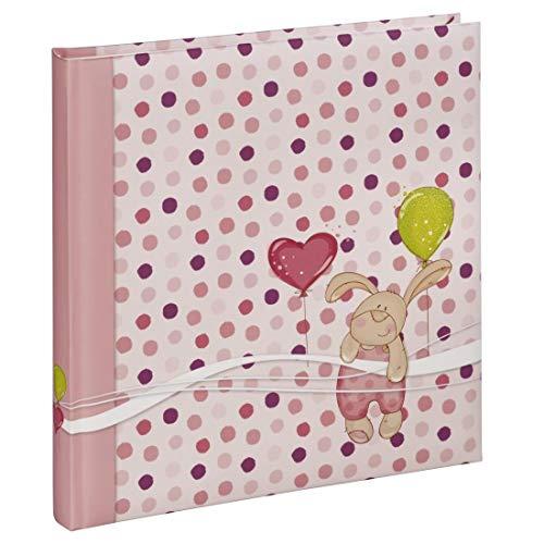 Hama kleine haas roze fotoalbum - fotoalbum (roze, 50 vellen, 250 bladeren, 290 mm, 320 mm)