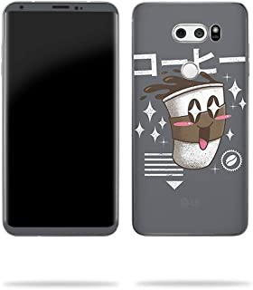 MightySkins Skin Compatible with LG V30 - Coffee Kawaii | Protective, Durable, and Unique Vinyl Decal wrap Cover | Easy to Apply, Remove, and Change Styles | Made in The USA