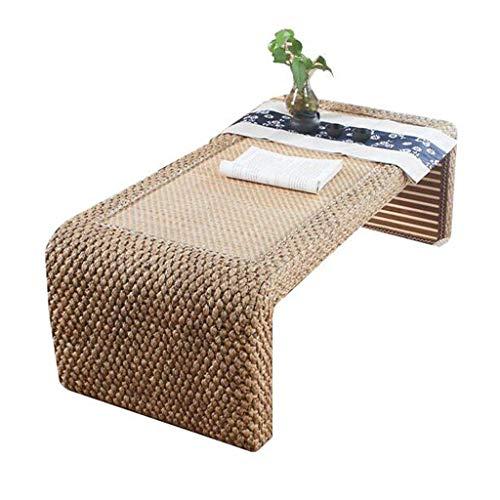 Tables Basse D'appoint De De De Thé Zen Basse Tatami en Rotin De Style Japonais De Balcon Simple De Fenêtre Tissée À La Main Basses