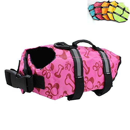 Snik-S Dog Life Jacket- Preserver with Reflective Stripes and Adjustable Belt, Pet Swimming Jacket for Short Nose Dog(Pug,Bulldog,Poodle)