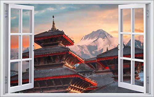 Nepal Tempel Asien Gebirge Wandtattoo Wandsticker Wandaufkleber F1398 Größe 60 cm x 90 cm