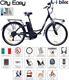 i-Bike City Easy Bicicletta Elettrica Unisex – Adulto, Nero, 180 x 90 x 32 cm