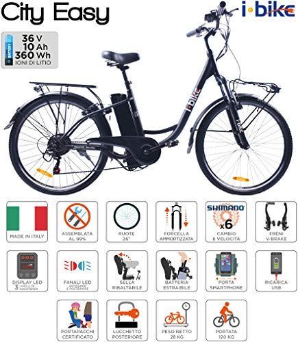 i-Bike City Easy Bicicletta Elettrica Unisex –...
