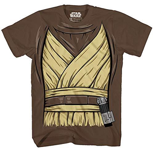 Star Wars OBI Wan Ben Kenobi Kostüm Jedi Erwachsenen-T-Shirt -  Braun -  X-Groß