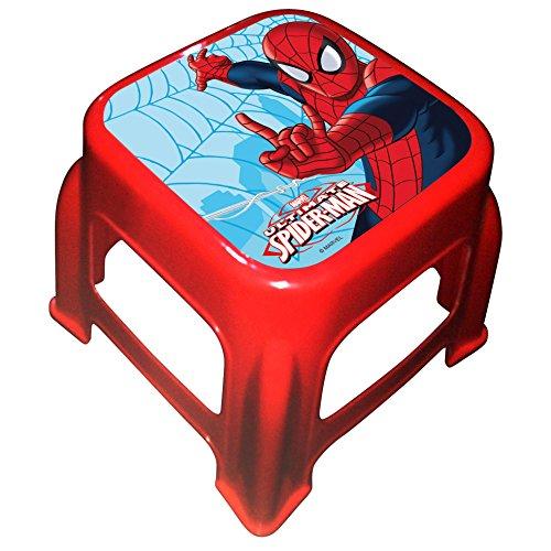 Spiderman 707978Hocker Tritthocker Kunststoff rot/blau 21x 27x 27cm