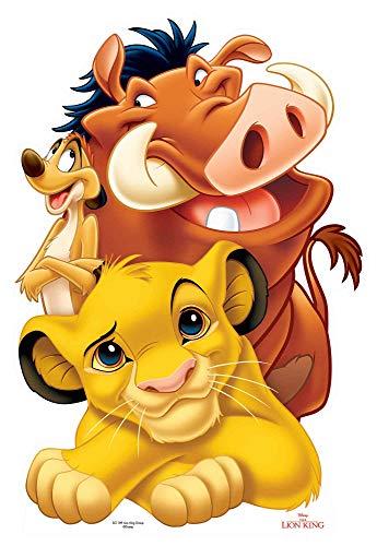 Disney König der Löwen Pappaufsteller Simba, Timon und Pumbaa