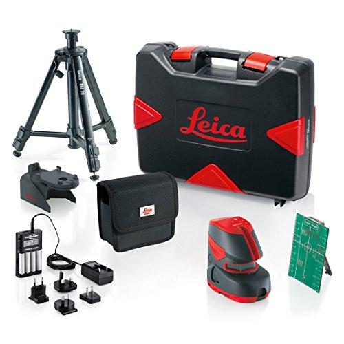 Leica 817857 Pack Nivel láser Verde de 2 líneas Lino L2G+ (30 m) + Accesorios