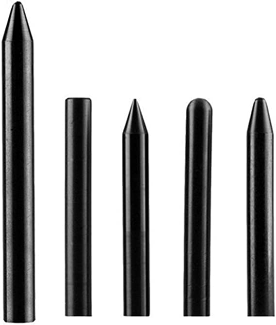 Keenso Tools Knock Down Tool Tap Down Pen Nylon Tap Down Pen Paintless Hail Removal Dent Repair Tools 5 pcs Black