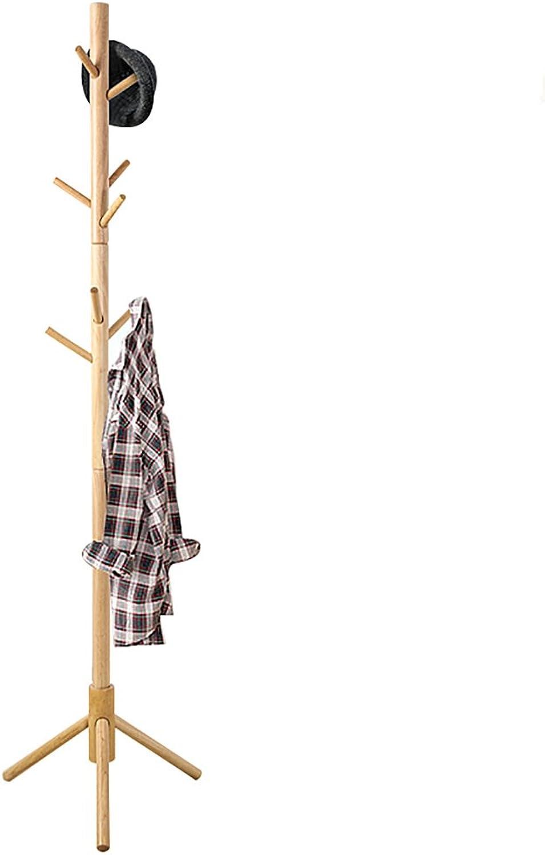 Coat Rack, Iiving Room bedroomsimple Solid Wood Floor Coat Rack Simple Modern Continental Single Rod Hanger. (color   B)