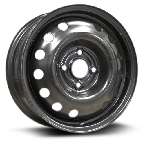 RTX, Steel Rim, New Aftermarket Wheel, 14x5.5, 4-100, 57.1, 45, black finish X99148N