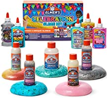 Elmer's Celebration Slime Kit | Slime Supplies Include Assorted Magical Liquid Slime Activators and Assorted Liquid...