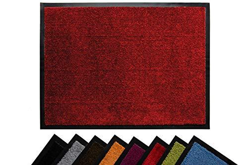 Tesar - Felpudo Norton Resistente Entrada a casa   Alfombra Exterior para Puerta Entrada casa, Impermeable, Lavable, Acolchado, Antideslizante, Pasillo, Cocina, Dormitorio (Rojo, 60 x 80 cm)