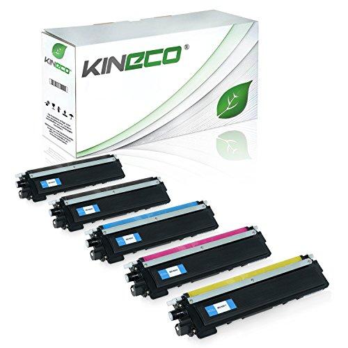 Kineco 5 Toner kompatibel für Brother TN-230 für Brother DCP-9010CN, HL-3040, HL-3045, HL-3070, MFC-9120CN, MFC-9320CW - Schwarz je 2.200 Seiten, Color je 1.400 Seiten