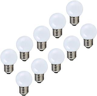Lampe de golf blanc chaud E27 LED petite ampoule Edison à vis couleur 2W, ampoule à économie d'énergie équivalente à une a...