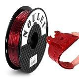 Noulei flexible TPU Filamento para impresora 3D, 1,75 mm 500g (Color rojo oscuro)