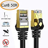 Best Ethernet Cable For Gamings - Cat 8 Ethernet Cable 50 ft Shielded, 26AWG Review