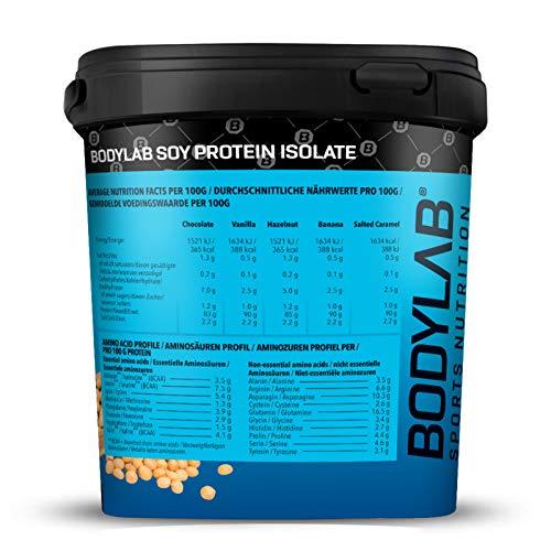 Bodylab24 Soya Protein Isolat Vanille, 1er Pack (1 x 1000g) - 2
