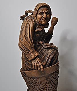 Baba Yaga the Russian Witch Sculpture