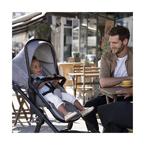 Silver Cross Coast Fully Adjustable 2-In-1 Baby Pram and Pushchair, Newborn to Toddler, With Accessories – Flint Silver Cross Newborn to toddler: Suitable from birth up to 6 months using the carrycot, and from 6 months to 25 kg with the pushchair seat attachment Strong and lightweight: Silver Cross high quality durable magnesium chassis weighs just 10.2kg, perfect for every trip, with 4-way independent wheel suspension and puncture proof tyres Compact: Quick and easy to fold down for transport and storage with a total of 27 clever configurations (Dimensions: L92-112 cm W60 cm H91-107 cm, folded: L94 cm W60 cm H34 cm) 6