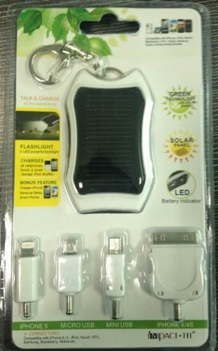 Impact-Tel Talk and Charge Emergency Charger and LED Flashlight for All Cellphones - Retail Packaging - White