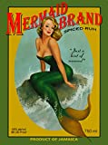 A SLICE IN TIME Mermaid Pin Up Jamaica Jamaican Rum Caribbean Island Beach Vintage Travel Advertisement Art Collectible Wall Decor Poster Print. Poster Measures 10 x 13.5 inches
