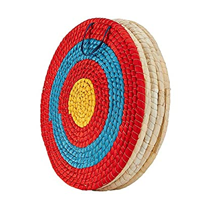 TOPARCHERY Archery Target 3 Layers 20 inch Traditional Solid Straw Archery Target 2.3 inch Thickness Hand-Made Arrows Target for Outdoor Shooting Practice (20inch / 5 Layers)