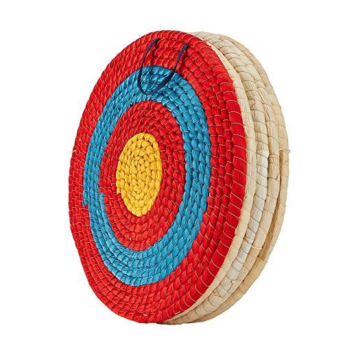 TOPARCHERY Bogenschießen-Zielscheibe, 3 Schichten, 50,8 cm, traditionelles solides Stroh-Schießschieß-Ziel, 5,8 cm Dicke, handgefertigte Pfeile für Outdoor-Schießübungen (50,8 cm/5 Schichten)